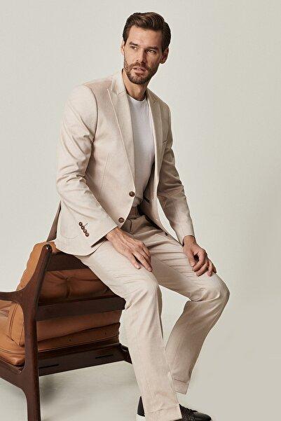 ALTINYILDIZ CLASSICS Erkek Bej Ekstra Slim Fit Bej Spor %100 Koton Takım Elbise