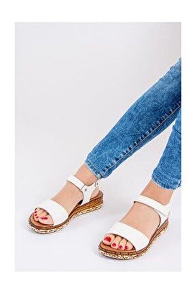 Kadın Beyaz Sandalet F288061309