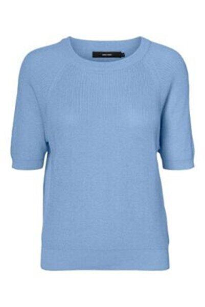Vero Moda Sun Ss O-neck Blouse Placid Blue Bayan Triko Kazak