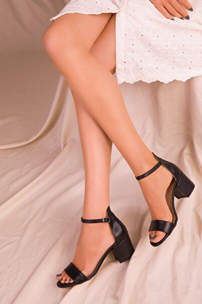 SOHO Siyah Kadın Klasik Topuklu Ayakkabı 14529