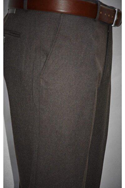 Ege Erkek Giyim Pantalon Kışlık Yün Klasik Koyu Kahve