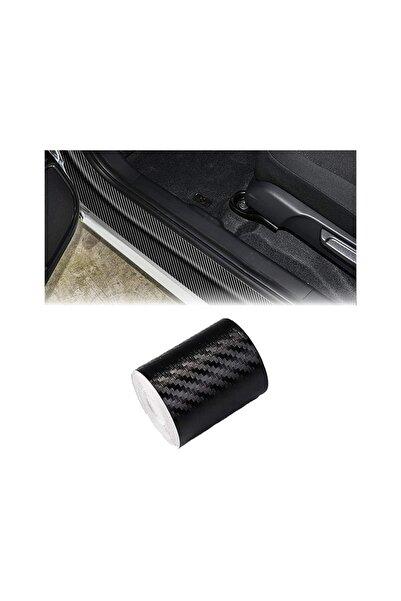 KrcDisplay (5cmx5mt) Siyah Karbon Şerit Folyo Araç Kapı Direk Eşik Çıta Kaplama Folyosu