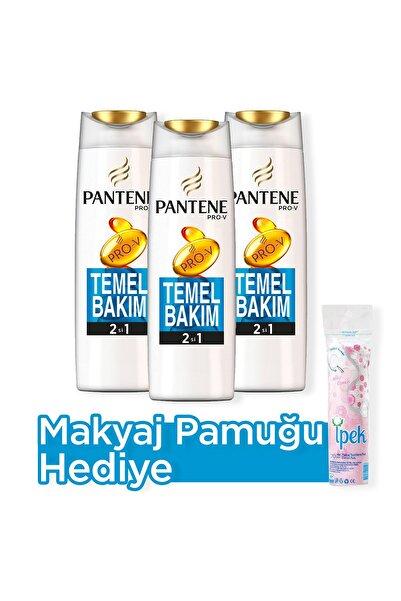 Pantene 2'si 1 Arada Şampuan Ve Saç Bakım Kremi Temel Bakım 500 Ml X 3 + Makyaj Pamugu Hediye