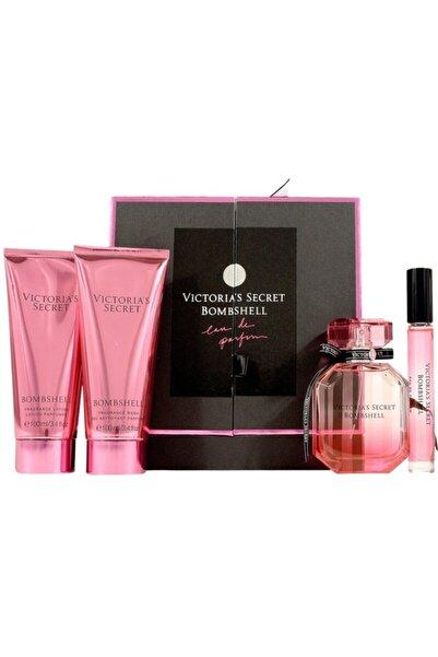 Victoria's Secret New Collection Bombshell Özel Kutulu Sevgiler Gününe Özel Orta Boy Hediye Seti 4lü