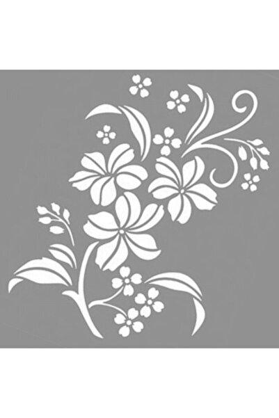 Artikel Flowers Desen Stencil Boyama Şablonu 30x30 Cm, Duvar Stencil, Fayans Stencil, Mobilya Stencil