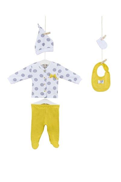 Aziz Bebe 5246 Kız Bebek Pamuklu 5'li Hastene Çıkış Seti