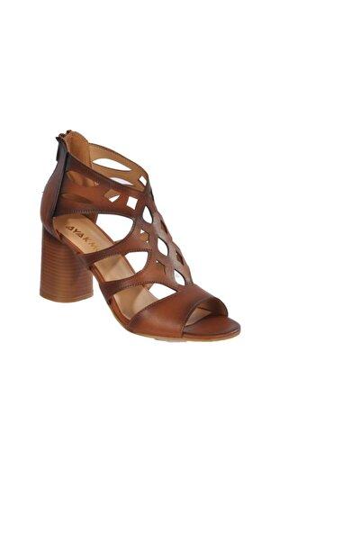 Maje 9837 Taba Kadın Topuklu Ayakkabı