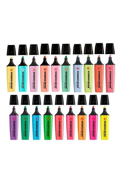 Stabilo Boss 15 + 4 ( Yeni Pastel Renk ) Renk Özel Seri Işaretleme Kalemi