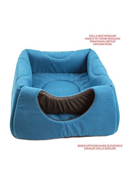 Stella Mavi Üç Fonksiyonlu Kedi Yatak