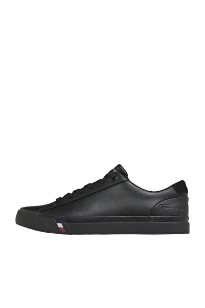 Tommy Hilfiger Erkek Corporate Leather Sneaker