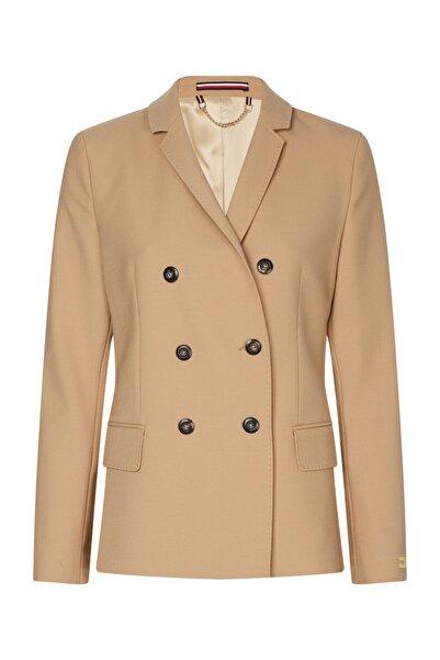 Tommy Hilfiger Kadın Bej Ceket Icon Wool Db Blazer WW0WW28496