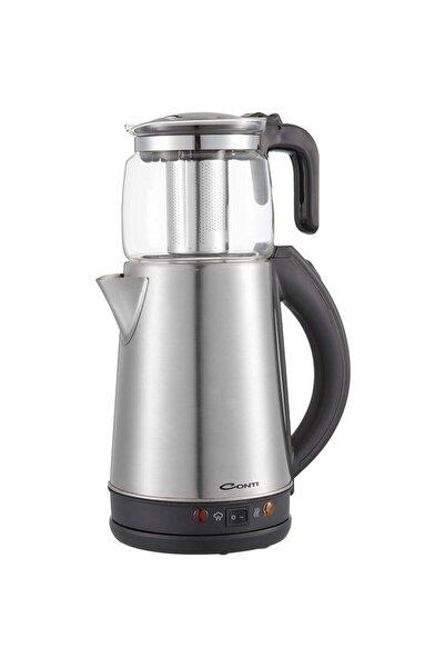 CONTİ Gri Cam Demlikli Çay Makinesi