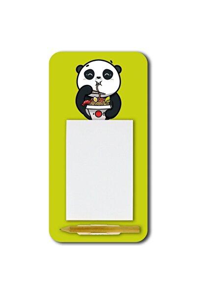 WuW Noodle Yiyen Panda Magnetli Kalemli Mdf Notluk
