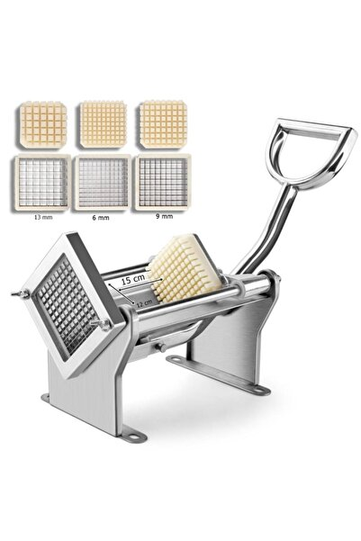 Mateka Patates Dilimleme Makinası Sebze Dilimleme Parmak Patates Dilimleme