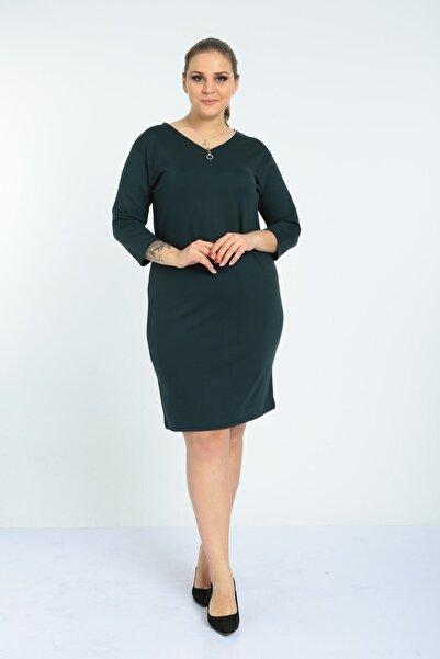 EGZ BUTİK Kadın  Fermuarlı Basic  Elbise