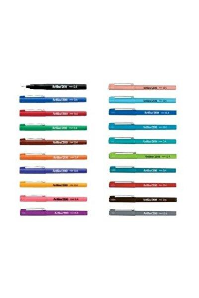 artline 200 Fineliner 0.4 Mm Ince Uçlu Yazı Ve Çizim Kalemi 20 Renk Set