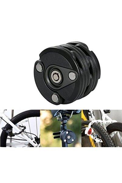 Tex Bisiklet Kilit Katlanabilir Model Siyah, Hamburg Kilit 3 Anahtarlı