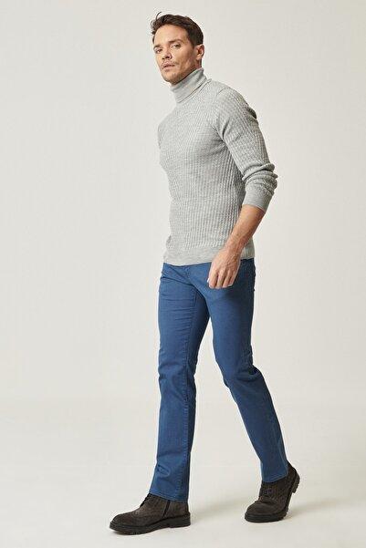 ALTINYILDIZ CLASSICS Erkek İndigo Slim Fit Desenli Pantolon