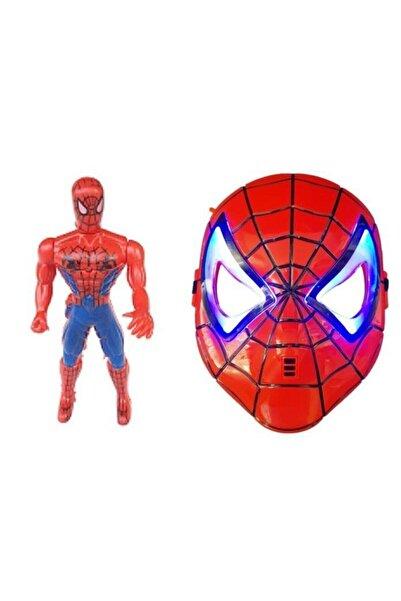 SPIDERMAN Işıklı Örümcek Adam Işıklı Maske 2 Li Set