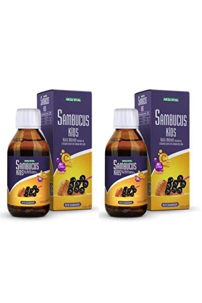 Aksu Vital Sambucus Kids Karamürver Ekstraktı Ve C Vitamini Şurubu 100ml X 2 Adet