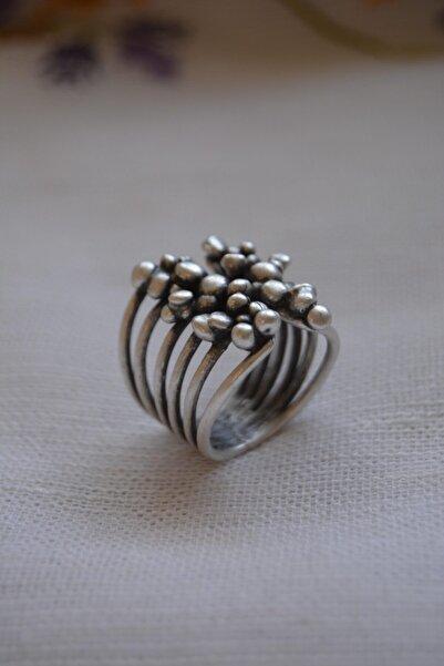 Stoneage Hint Gümüşü Ayarlanabilir Bohem Bayan Yüzük Yerli Üretim Türk Malı Boho Tarz