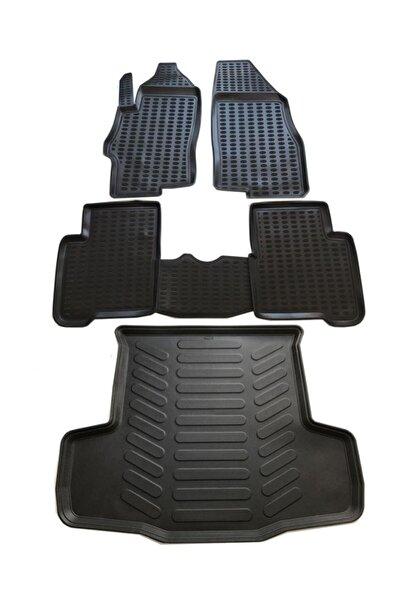 Leader Fiat Linea 3d Havuzlu Paspas 2007-2018 Arası+bagaj Havuzu Ikili Set Siyah