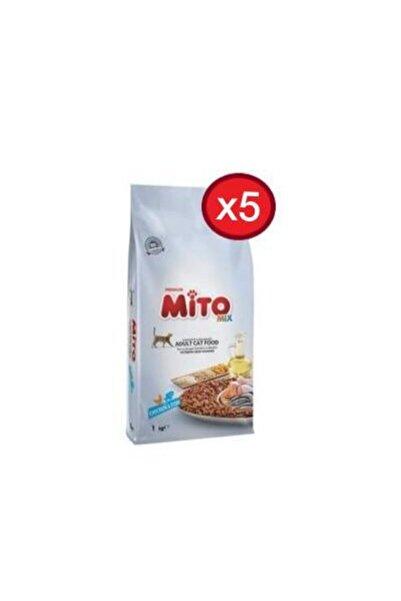 Mito Mix Kedi Maması 1kg X 5 Adet Mix1kgx5 Adet