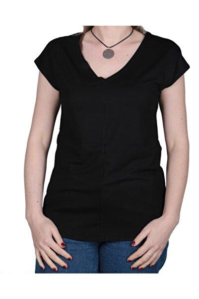 Cazador Kadın V Yaka T Shirt 4372