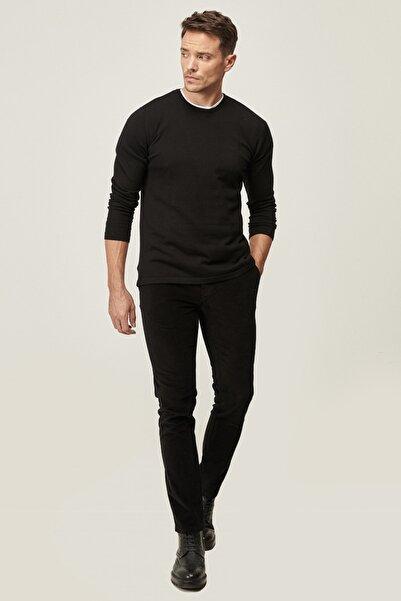 ALTINYILDIZ CLASSICS Erkek Siyah Slim Fit Dar Kesim Yan Cep Kadife Kışlık Pantolon