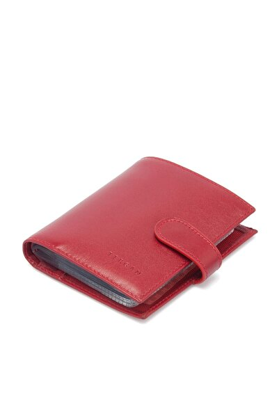 Tergan Hakiki Deri Kırmızı Unisex Kredi Kartlık S1KK00001323