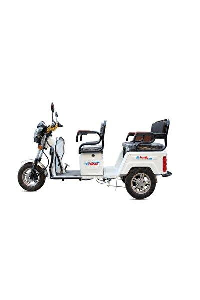 Falcon Family 8000 Elektrikli 3 Tekerli Motosiklet - Beyaz