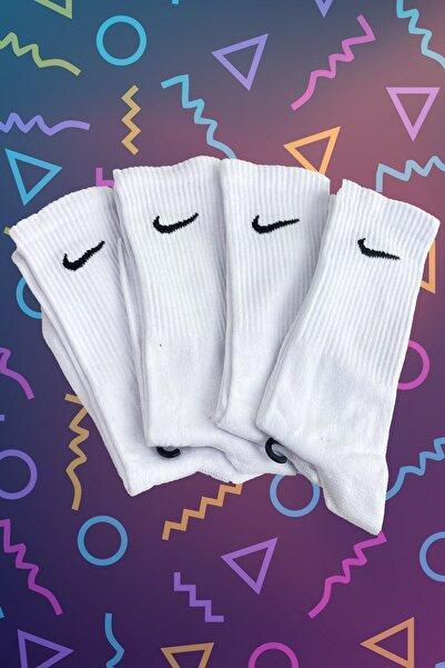 THE SOXLAB 4'lü Beyaz Atletik Çorap Seti