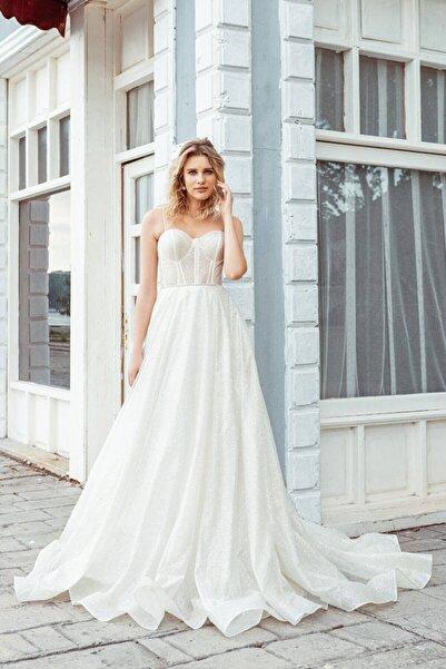 Mediha Cambaz Bridal Italy Lıght Italyan Simli Gizli Balenli Bustiyer Metropolitan Modern A Kesim Gelinlik