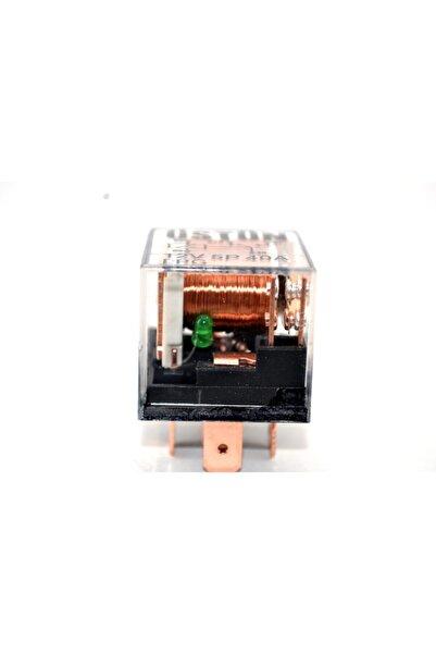 Üstün Mini Role Işıklı Şeffaf 40 Amper 5 Ayaklı Çift Platinli 12v (1 Adet)