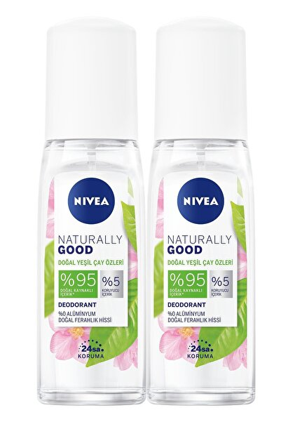 Nivea Naturally Good Doğal Yeşil Çay Özleri Kadın Deodorant Pump Sprey 75 Ml X2