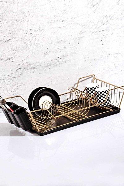 Kitchen Life Altın Renk Tabaklı Lüx Bulaşıklık