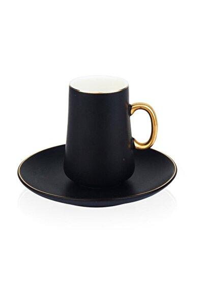 ACAR Xhf-9650/12 2li Kahve Fincan Seti Siyah