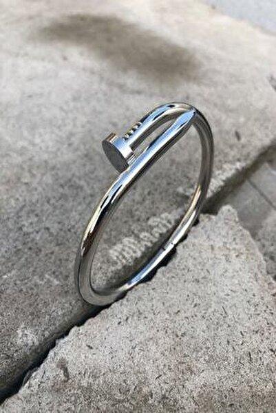 Unisex Çivi Model Kararmaz Çelik Bileklik