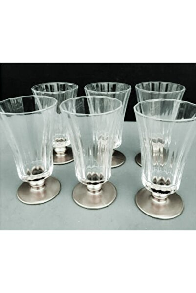 DiamondCrystal Paşabahçe Diamond Gümüş 6lı Kahve Yanı Su Bardağı Takımı
