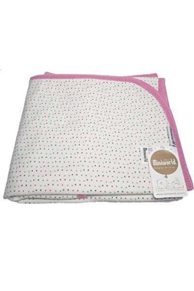 Miniworld Kız Bebek  Empirme Baskılı Pembe Battaniyesi