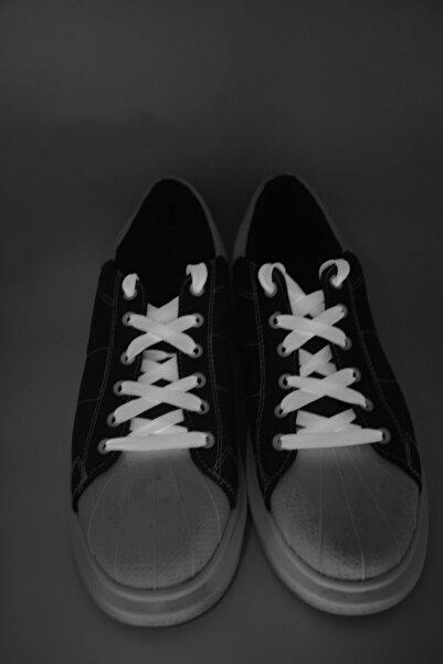 Fashionery Unisex Beyaz Led Işıklı Ayakkabı Bağcıkları