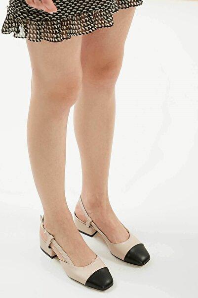 Mio Gusto Kadın Bej Topuklu Ayakkabı