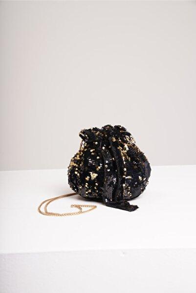 yumabag Kadın Altın Payetli Çanta