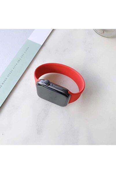 zore Apple Watch Uyumlu Kırmızı  Silikon Kordon