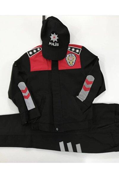 AKÇAYÇOCUK Unisex Çocuk Siyah Yunus Polis Kıyafeti