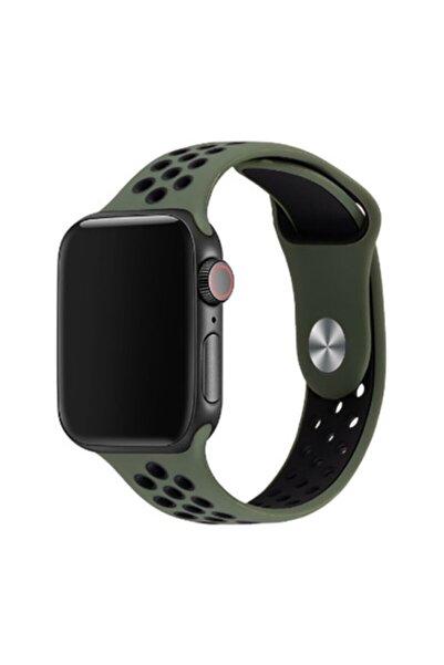 zore Apple Watch 42mm 2-3-4-5-se-6.nesil Uyumlu Göz Alıcı Renkler Şık Tarım Silikon Kordon