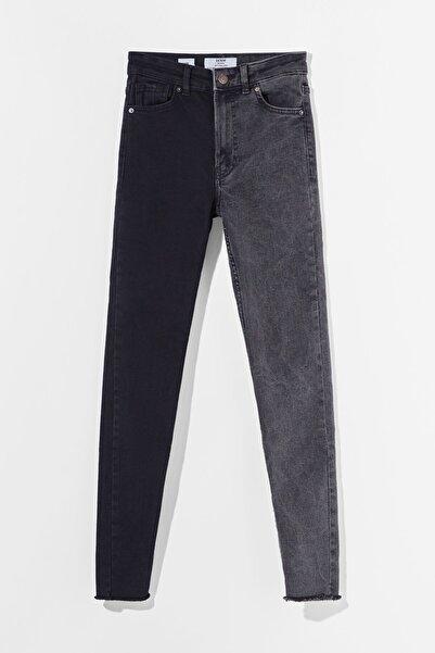 Bershka Kontrast Yüksek Bel Skinny Fit Jean