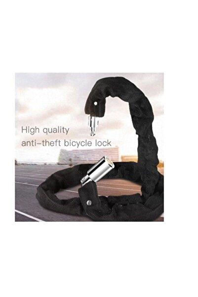 MTS Bisiklet Motorsiklet Zincir Kilit Anahtarlı Bez Korumalı Siyah (6 X 1500mm)