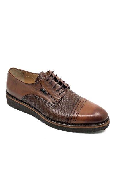 Fosco Bağcıklı Taba Deri Erkek Günlük Ayakkabı 7042 45 768