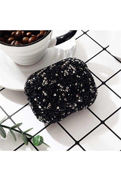 zore Siyah Airpods 1 Nesil Uyumlu Diamond Gösterişli Taşlı Kılıf